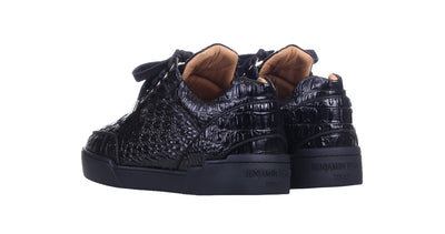 Low-Top ALL BLACK  ALLIGATOR EFFECT