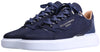 BNJ RAPHAEL Low-Top  NAVY 3D STRIPED EMBOSSED NUBUCK