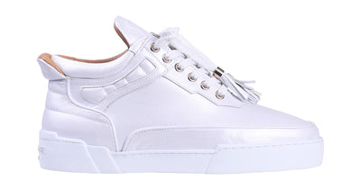 Women's Mid-Top White Silk Finish Nappa