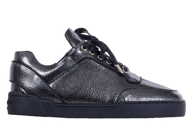 Low-Top IRON GREY WASHED PATENT CALFSKIN