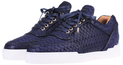 Low-Top MIDNIGHT BLUE PYTHON CUT
