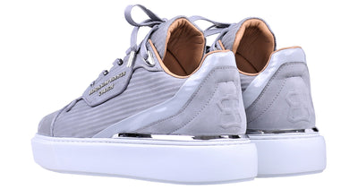 BNJ RAPHAEL Low-Top ICE GREY 3D STRIPED NUBUCK