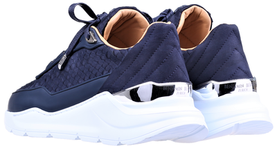 LOW-TOP BNJ HECTOR RUNNER  NAVY BLUE PYTHON CUT -MATT NAPPA