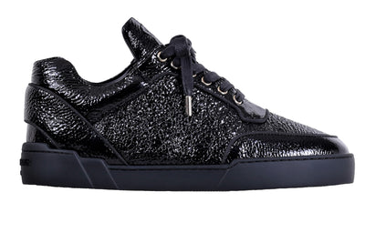 Low-Top ALL BLACK WASHED PATENT CALFSKIN