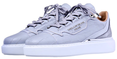 BNJ RAPHAEL Low-Top ICE GREY MATT CROCODILE