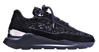 LOW-TOP BNJ HECTOR RUNNER BLACK GALAXY WAXED SUEDE