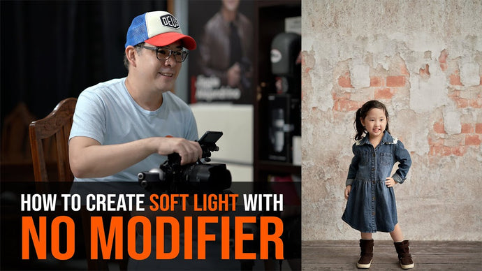 LIGHTING HELP: How To Create Soft Portrait Light WITHOUT the use of a Conventional Modifier?