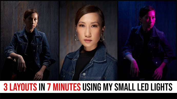 LIGHTING HELP: 3 Quick & Beautiful Portraits with Just Small LED Lights for Photography