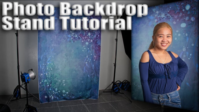 How To Setup A Photography Backdrop Stand Kit For Photos, Plus Video For YouTube & Twitch