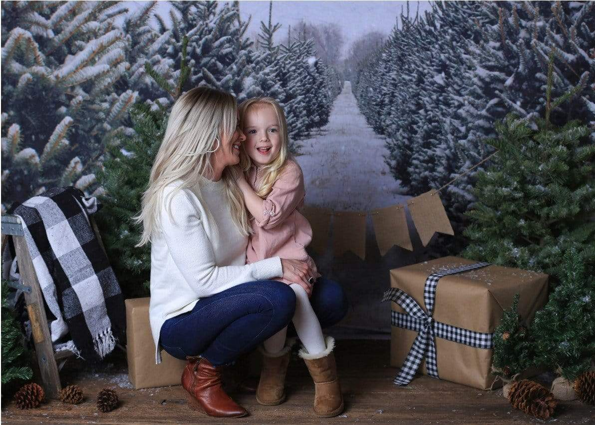 Load image into Gallery viewer, Katebackdrop:Kate Christmas Pines Tree Farm Path Backdrop for Photography