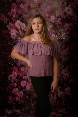 Katebackdrop:Kate Fantasy Purple Flowers Valentines background for Photography