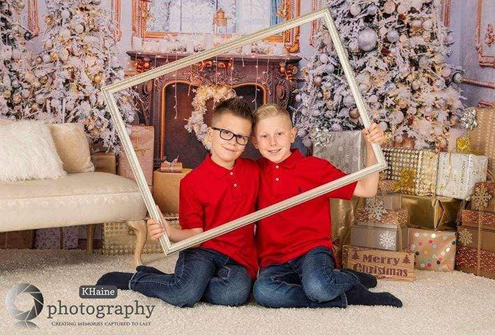 Katebackdrop:Kate Christmas Decorations Trees Gifts Room Backdrop for Photography