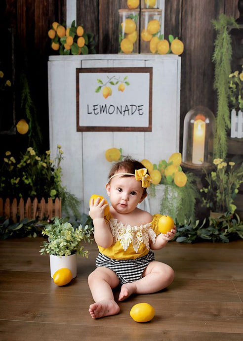 Kate Summer Lemon Stand Backdrop Designed by Jia Chan Photography