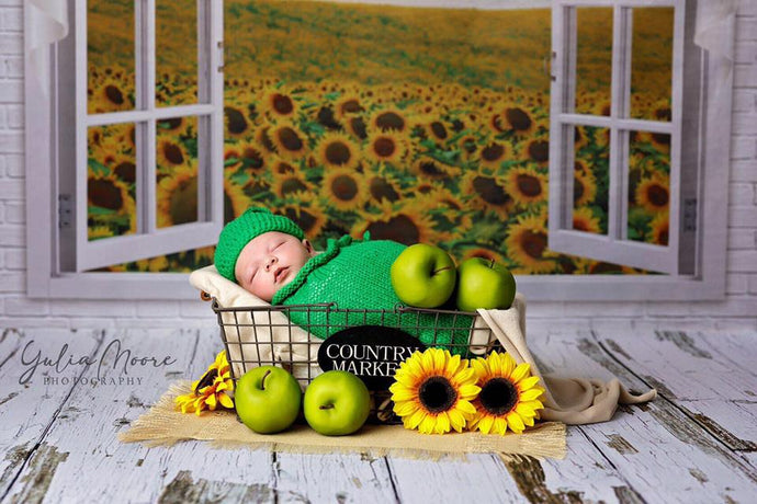 Kate Summer Sunflower Window Backdrop Designed By Ava Lee