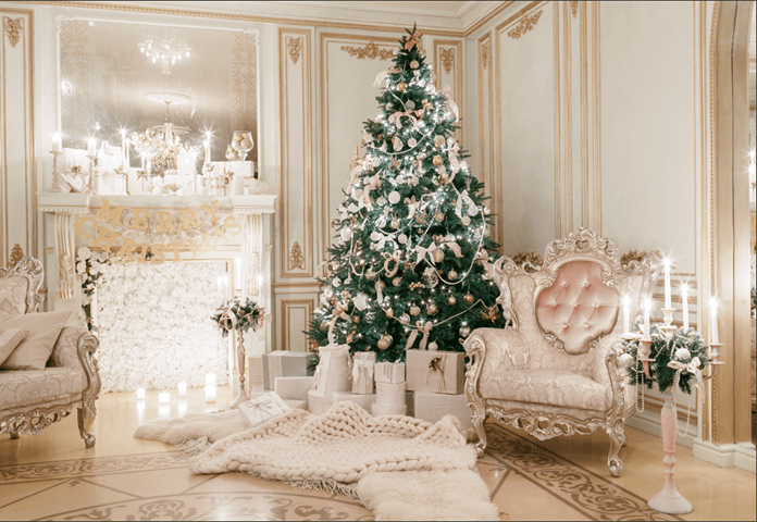 Load image into Gallery viewer, Katebackdrop£ºKate Christmas luxury clean interior backdrop for holiday session