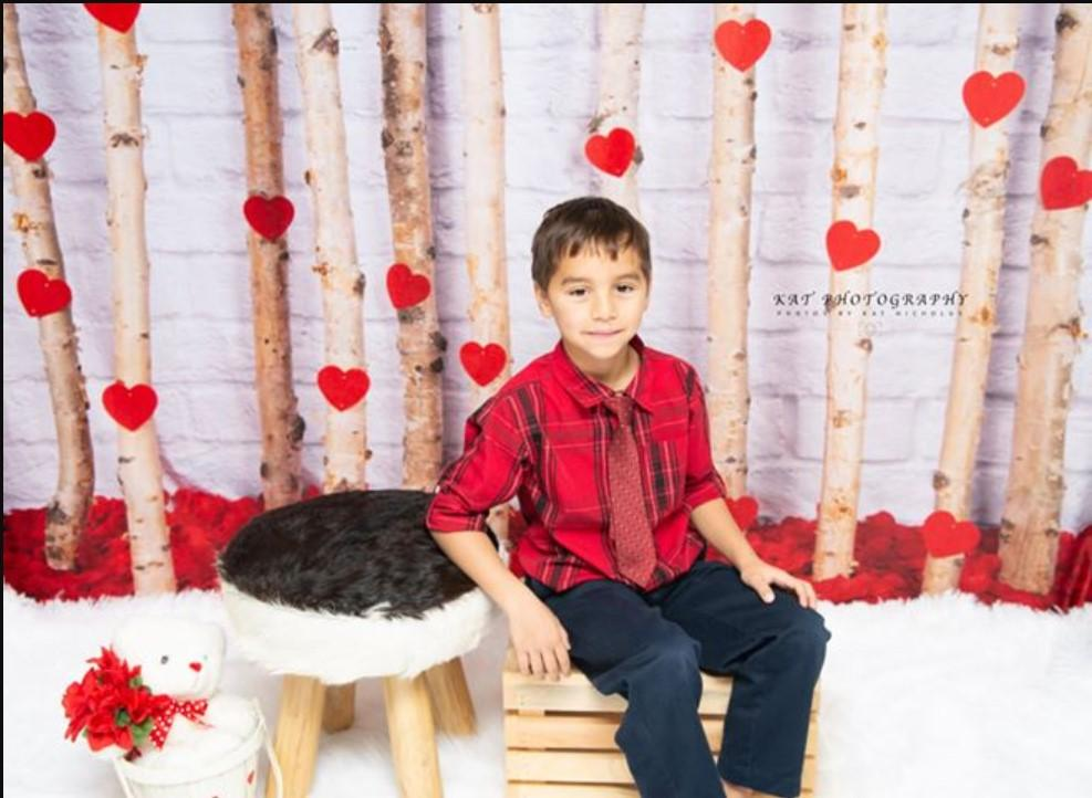 Load image into Gallery viewer, Kate Valentine's Day Roses Wooden Stick Backdrop Designed by Jia Chan Photography