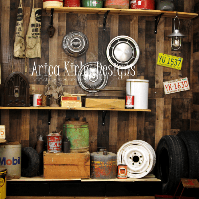 Katebackdrop£ºKate Vintage Garage Backdrop Designed by Arica Kirby