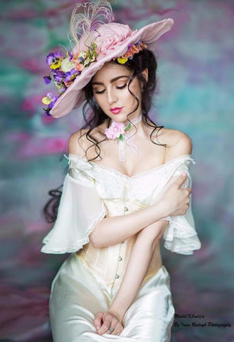 Katebackdrop:Kate Hand Painting Pink Flowers Portrait Photography Backdrops
