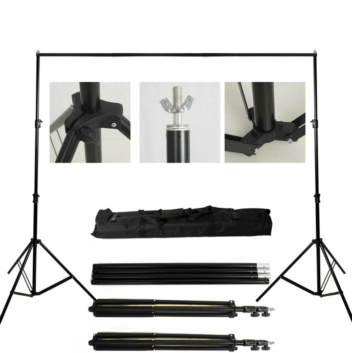 Kate Equipment 8.5*10ft&10x10ft Black Aluminum Backdrops Stand (3cm Thick)