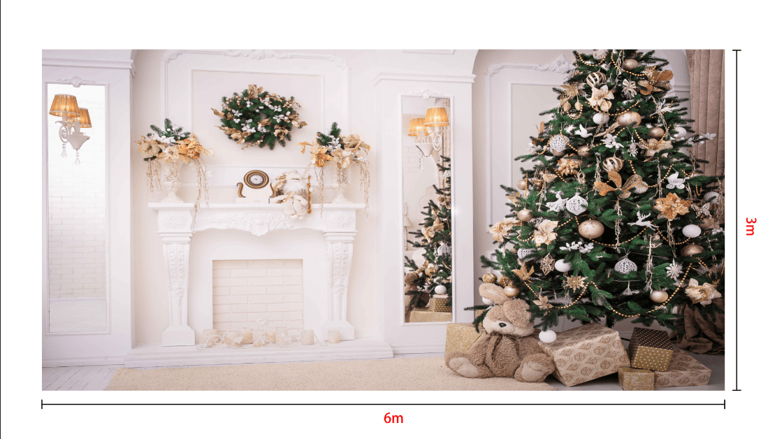 Load image into Gallery viewer, Katebackdrop:Kate Christmas Tree Decoration Fireplace Backdrop Studio Props