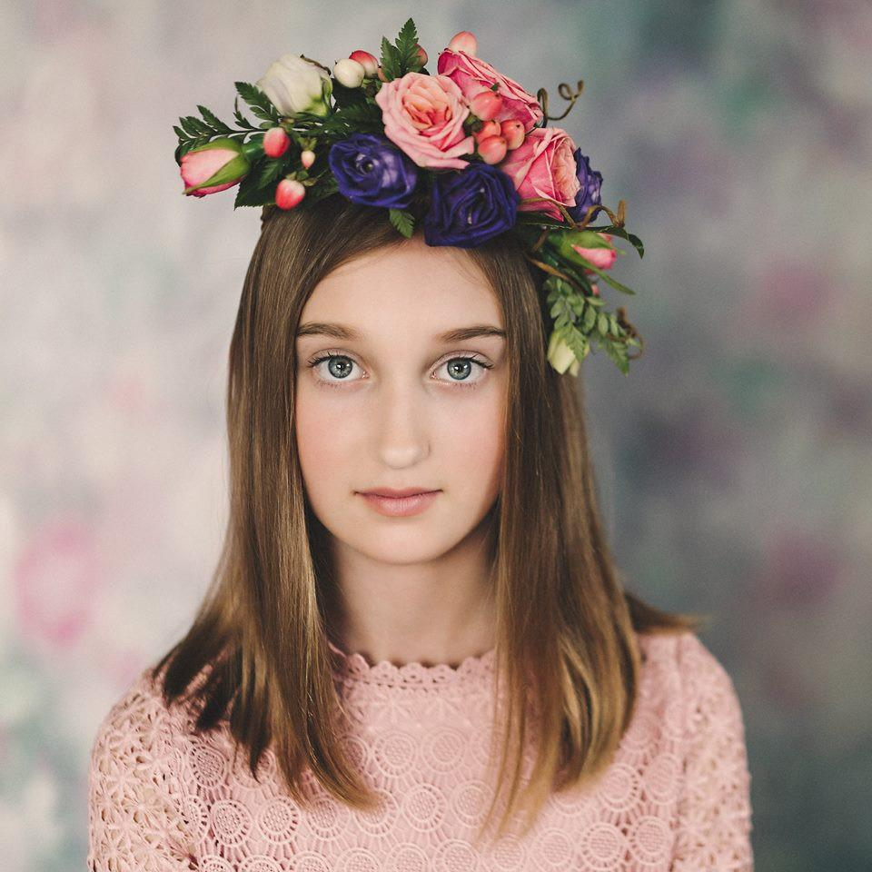Katebackdrop:Kate Valentine's Day Pink Flowers Hand Painting Portrait Photography Backdrops