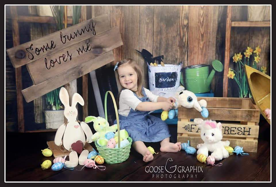 Load image into Gallery viewer, Katebackdrop:Kate Spring Dark Wood Easter Garden Backdrop