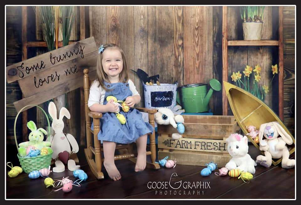 Katebackdrop:Kate Spring Dark Wood Easter Garden Backdrop