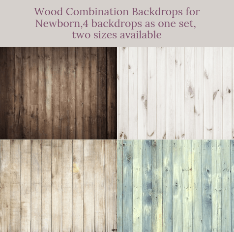 Katebackdrop:Wood combination backdrops for newborn( 4 backdrops in total )
