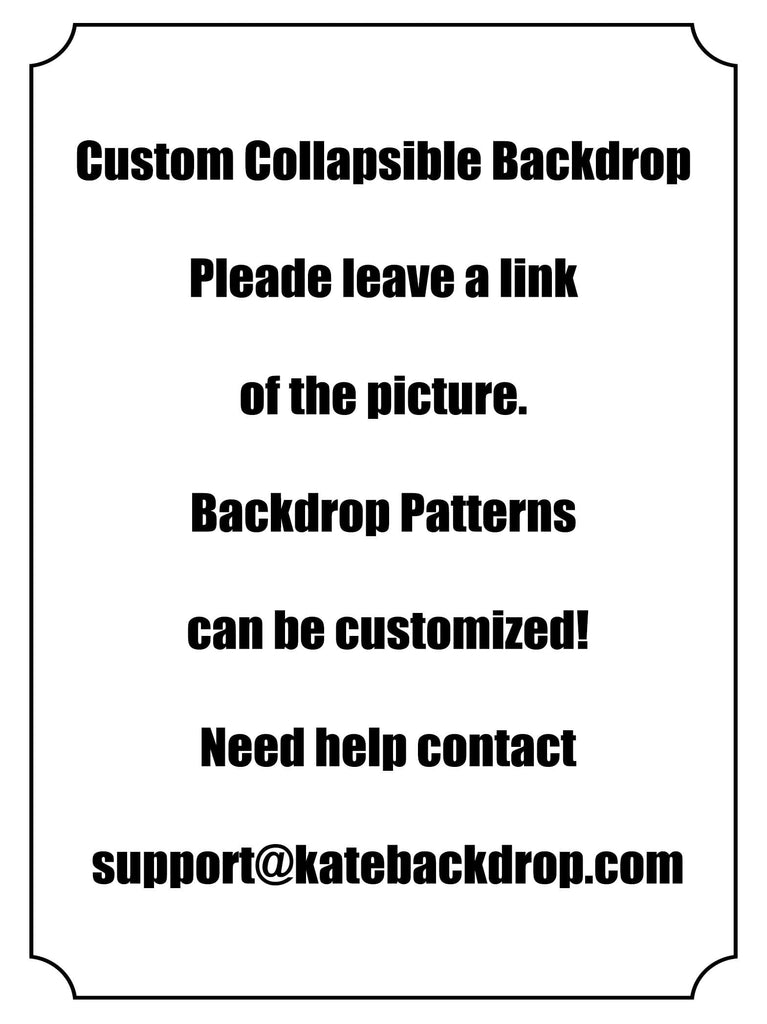 Katebackdrop:Kate Custom Collapsible Backdrop Photography 5X6.5ft(1.5x2m)