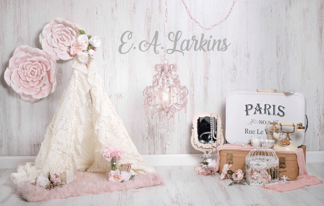 Load image into Gallery viewer, Katebackdrop:Kate Vintage Vibes Flower Paris Backdrop for Photography Designed by Erin Larkins