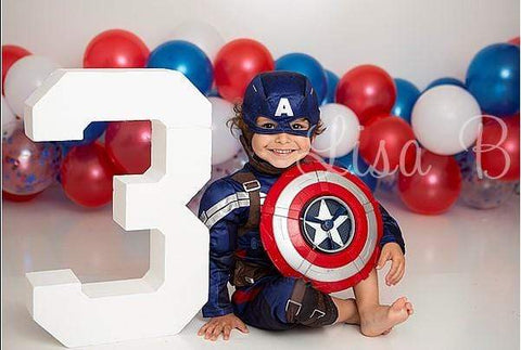Kate 4th of July Balloons Birthday Children Backdrop for Photography Designed by Lisa B