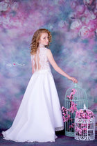 Kate Pink Flowers Hand Painting Liked Portrait Photography Backdrops