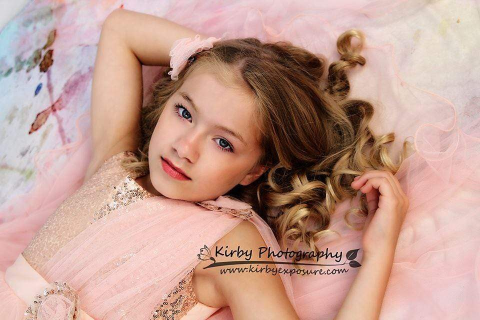 Kate Pink Backdrop Photography Flower Pattern For Children Shoot