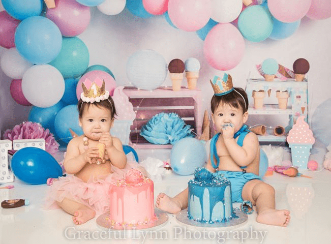 Katebackdrop£ºKate Ice Cream with Balloons Children Backdrop for Photography Designed by Megan Leigh Photography
