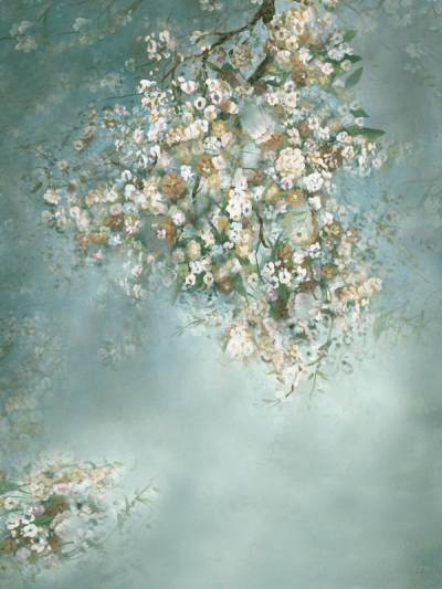 Load image into Gallery viewer, Katebackdrop:Kate Painting Like Green Spring Flowers backdrop printed Background