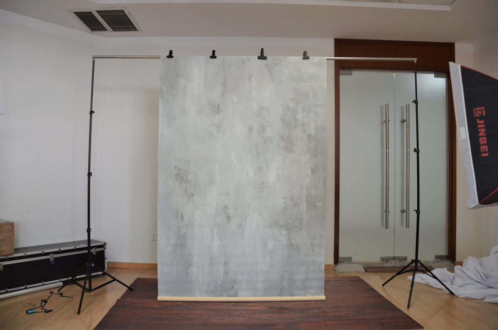 Katebackdrop£ºKate Hand Painted Abstract Texture Light White Little Gray Backdrops
