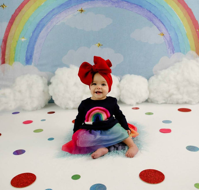Katebackdrop£ºKate Rainbow clouds and dreams Backdrop Children