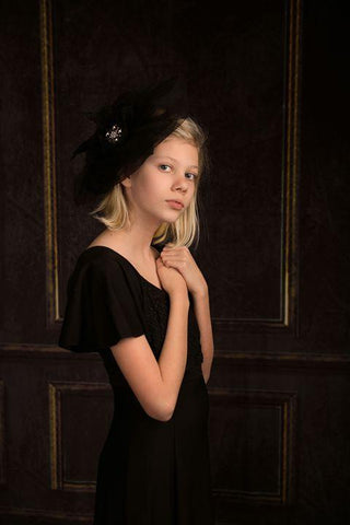 Kate Elegant Retro Black Wall door Backdrop
