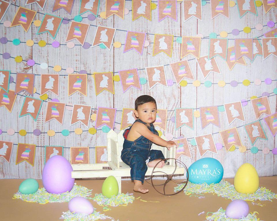 Katebackdrop:Kate Easter Wood with Rabbit Decoration Backdrop for Photography designed by Jerry_Sina