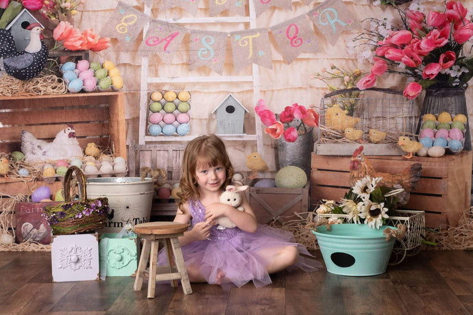 Katebackdrop£ºKate Colorful Eggs Happy Easter Backdrop for Photography