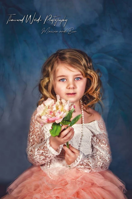 Kate Blue Florals Backdrop Photography For Children - Katebackdrop