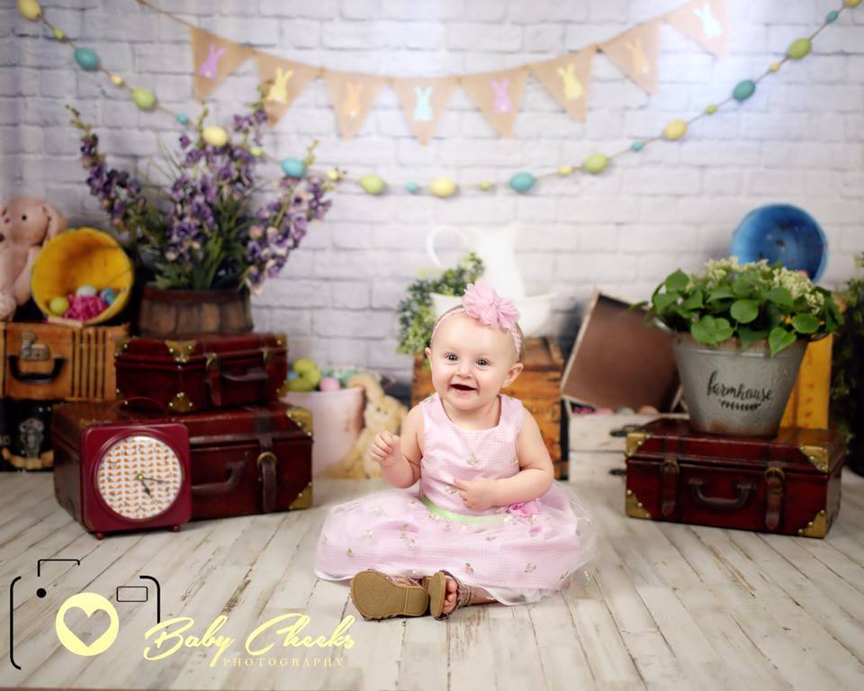 Load image into Gallery viewer, Katebackdrop£ºKate Hoppy Easter Backdrop designed by Arica Kirby