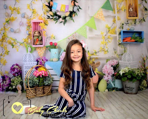 Kate Hello Spring Home Backdrop for Easter session Design by Shutter Swan Studios