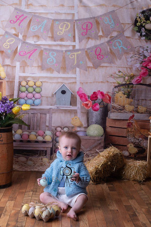 Katebackdrop:Kate Colorful Eggs Happy Easter Backdrop for Photography