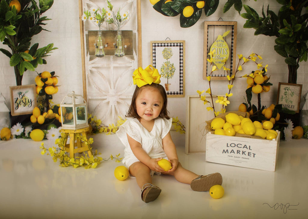 Katebackdrop£ºKate Lemon Be Zesty Spring Backdrop for Photography