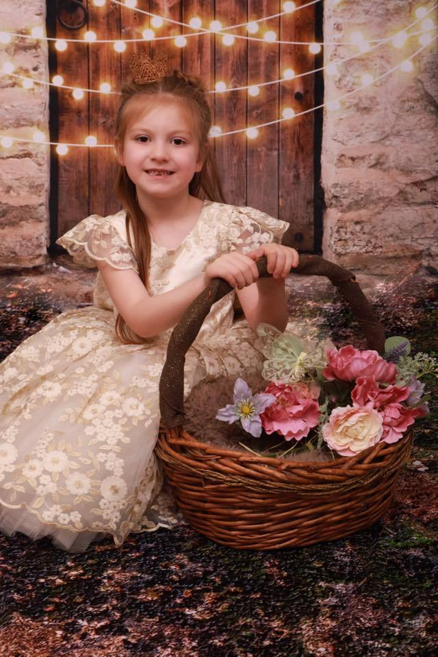 Katebackdrop:Kate Vintage Wall and Door with Lights Children Backdrop for Children Designed by JFCC