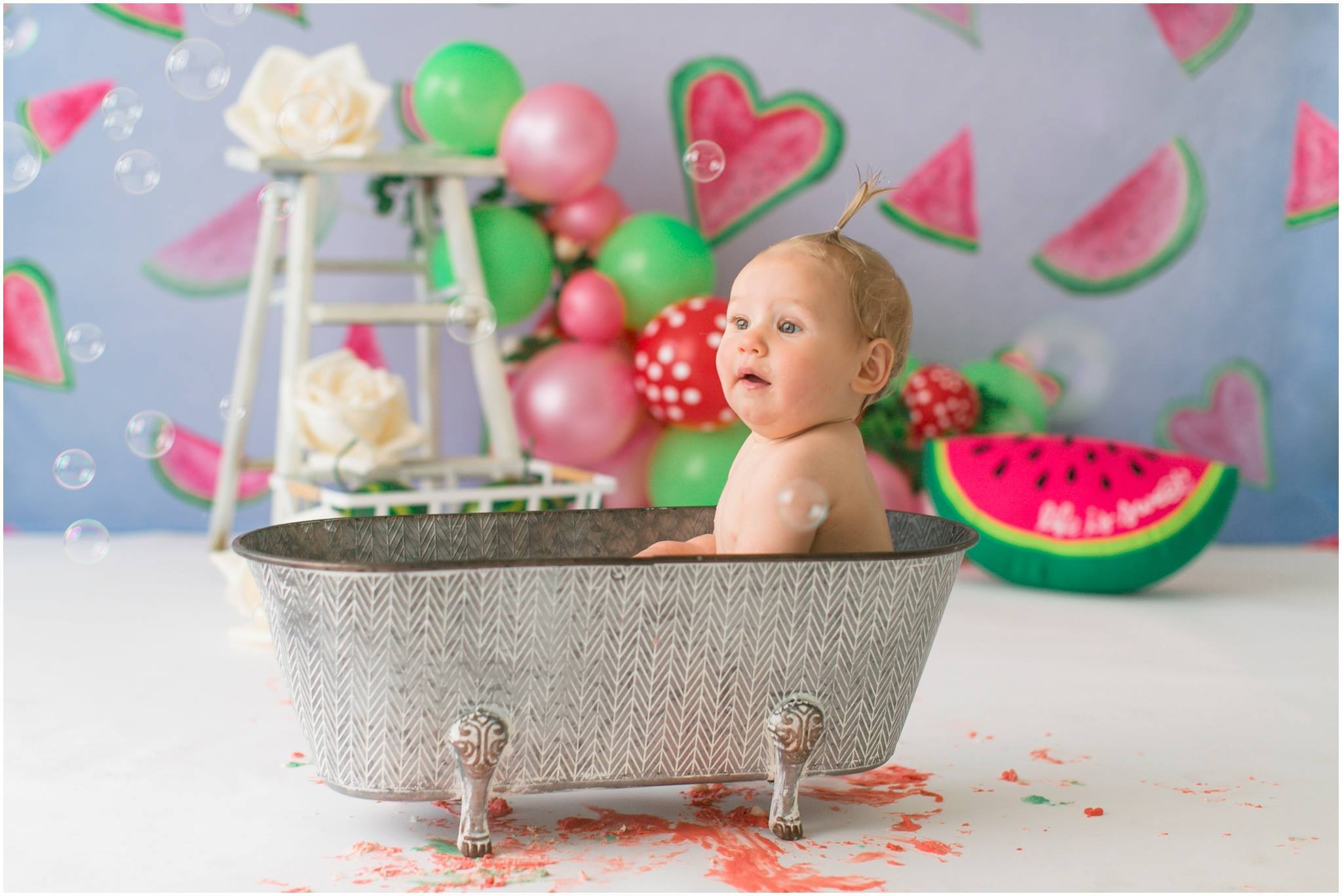 Load image into Gallery viewer, Katebackdrop£ºKate Watermelon Faded Love Backdrop designed by Arica Kirby