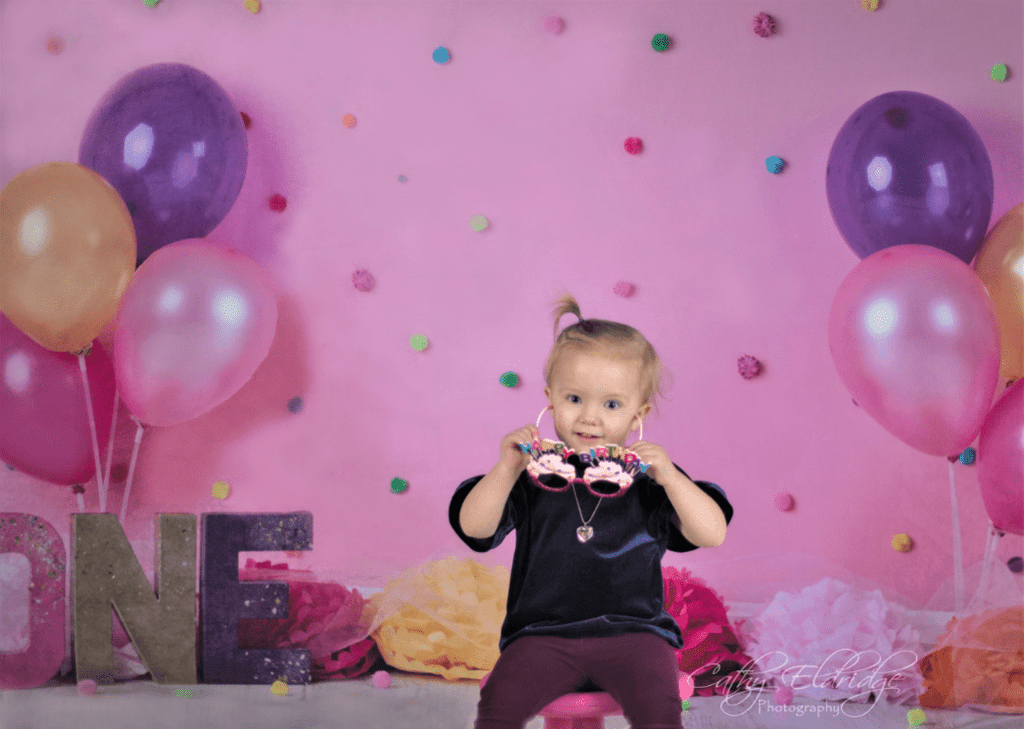 Katebackdrop£ºKate Balloons And Decorations Birthday Children Backdrop for Photography Designed by Erin Larkins