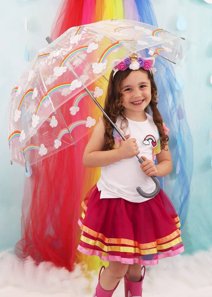 Load image into Gallery viewer, Katebackdrop£ºKate Rainy Spring Rainbow Flowers Children Backdrop Designed by Leann West
