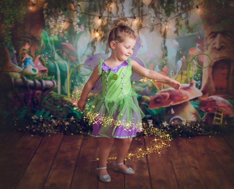 Load image into Gallery viewer, Katebackdrop:Kate Children Fairy Tale Wonderland Forest Mushrooms Backdrops